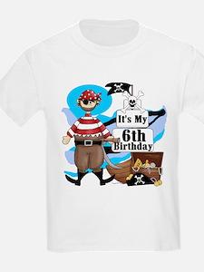 Pirate's Life 6th Birthday T-Shirt