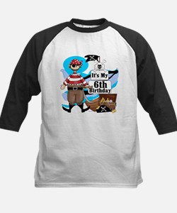 Pirate's Life 6th Birthday Kids Baseball Jersey