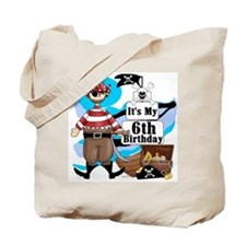 Pirate's Life 6th Birthday Tote Bag