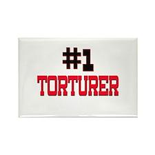 Number 1 TORTURER Rectangle Magnet