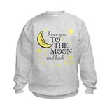 Toddler girls to the moon and back Crew Neck
