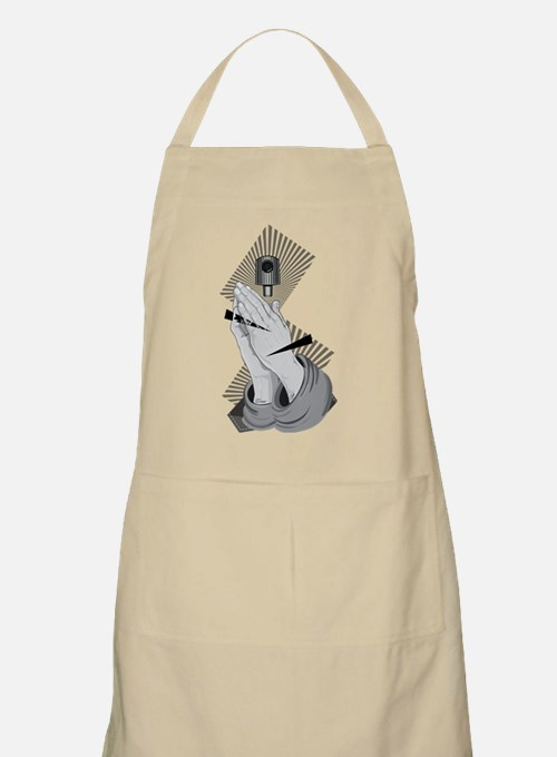 Praying Hands Graffiti Light Apron