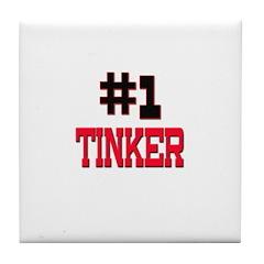 Number 1 TINNER Tile Coaster