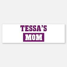 Tessas Mom Bumper Car Car Sticker