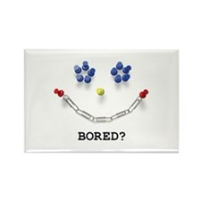 Bored? push pin smiley face Rectangle Magnet