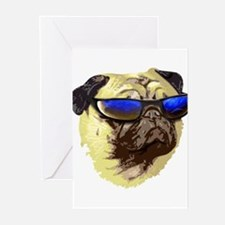 Cool Pug Greeting Cards (Pk of 10)
