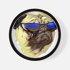 Cool Pug Wall Clock