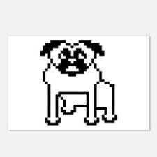 Pixelated Pug Postcards (Package of 8)