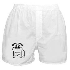 Pixelated Pug Boxer Shorts