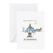 Winter in MN Fig. 1 Greeting Cards (Pk of 10)