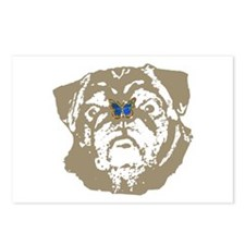 Pug and Butterfly Postcards (Package of 8)