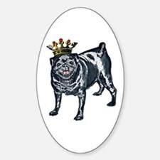 Pug King Oval Decal
