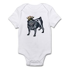 Pug King Infant Creeper