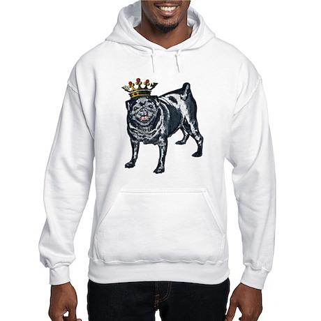 Pug King Hooded Sweatshirt