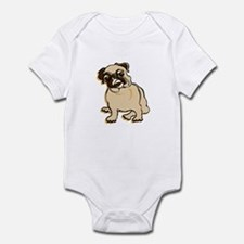Talk to the Pug Infant Creeper