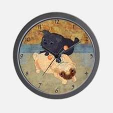 Deelybopper Pugs Wall Clock
