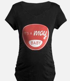 Red It's a May Baby T-Shirt