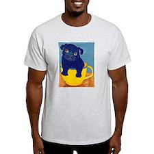 Teacup Pug Ash Grey T-Shirt