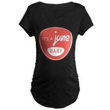 Red It's a June Baby T-Shirt