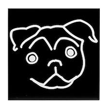 Pug Line Art Tile
