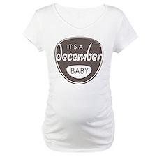 Gray It's a December Baby Shirt