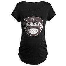 Gray It's a January Baby T-Shirt