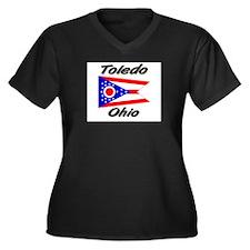 Toledo Ohio Women's Plus Size V-Neck Dark T-Shirt