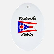 Toledo Ohio Oval Ornament