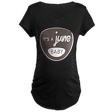 Gray It's a June Baby T-Shirt