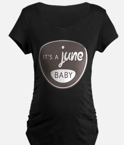 Gray It's a June Baby T-Shirt