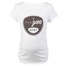 Gray It's a June Baby Shirt