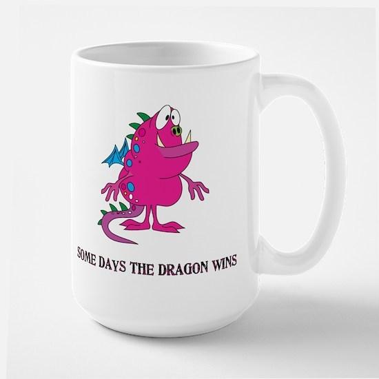 Some Days the Dragon Wins Large Mug