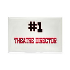 Number 1 THEATRE DIRECTOR Rectangle Magnet (10 pac