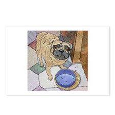 Dinner Pug Postcards (Package of 8)
