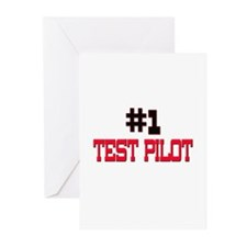 Number 1 TEST PILOT Greeting Cards (Pk of 10)