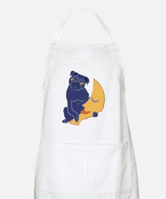 Pug and Moon BBQ Apron