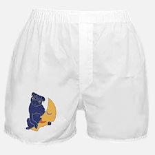 Pug and Moon Boxer Shorts
