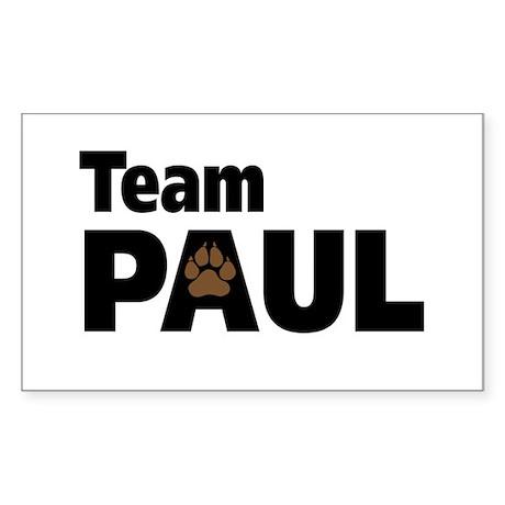 Team Paul Paw Print Rectangle Sticker