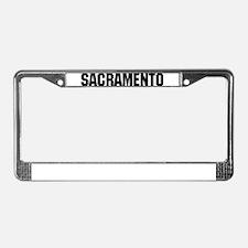 Sacramento, California License Plate Frame