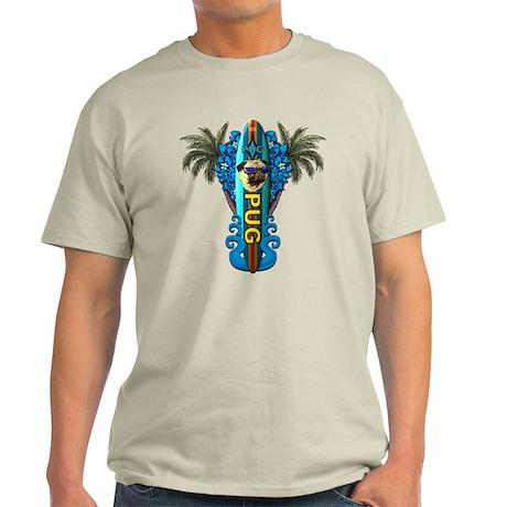 Beach Pug Ash Grey T-Shirt