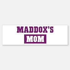 Maddoxs Mom Bumper Bumper Bumper Sticker