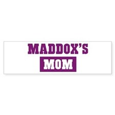 Maddoxs Mom Bumper Bumper Sticker