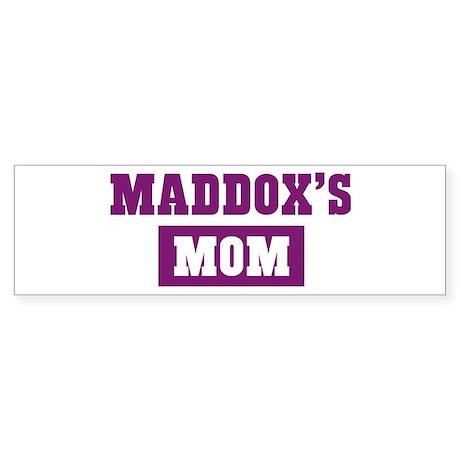 Maddoxs Mom Bumper Sticker