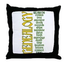 Genealogy List Throw Pillow