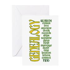 Genealogy List Greeting Card