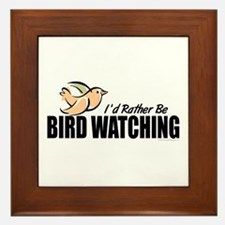 Bird Watching Framed Tile