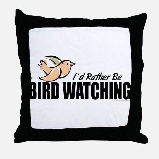 Bird Watching Throw Pillow