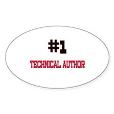 Number 1 TECHNICAL AUTHOR Oval Decal