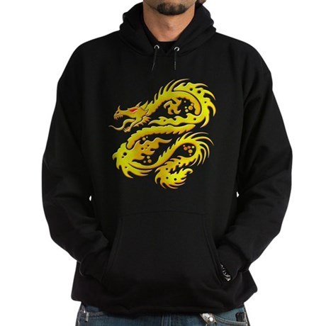 Awesome Gold Dragon Hoodie (dark)