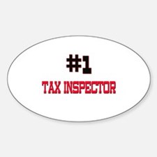 Number 1 TAX INSPECTOR Oval Decal